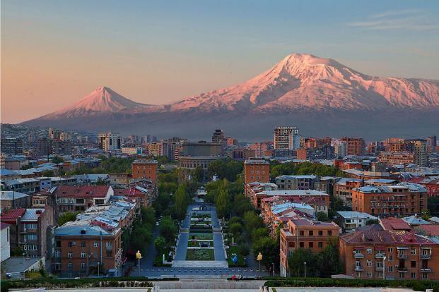 Mont Ararat et Erevan